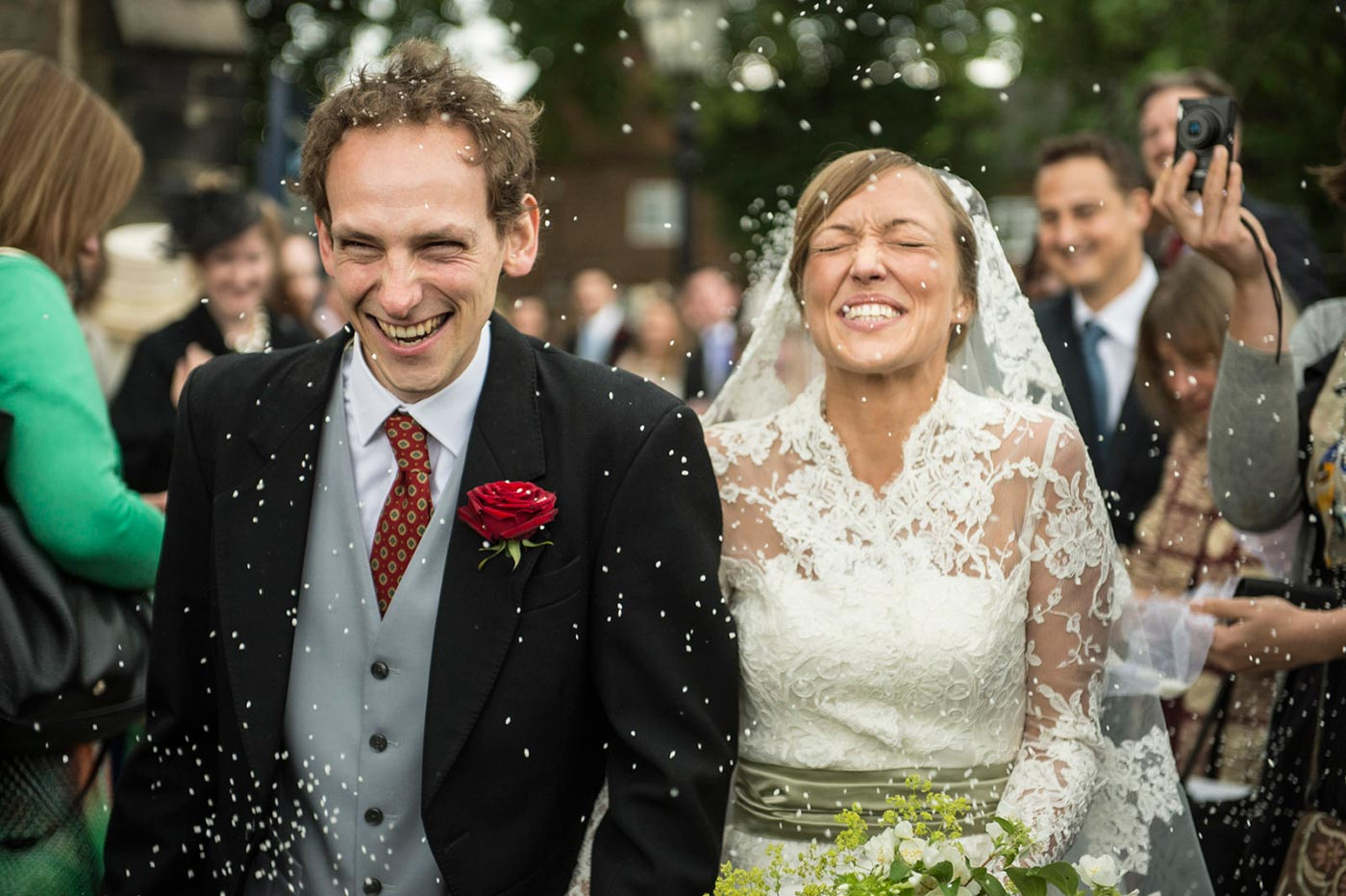 Wedding Confetti Photographs Leicestershire - Harry Richards Photography