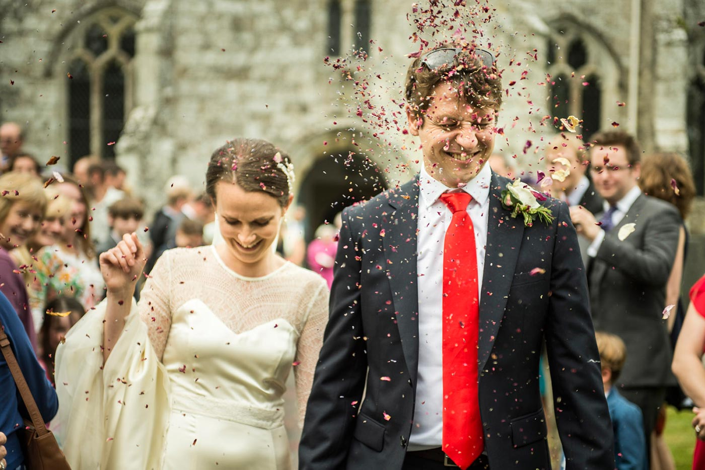 Wedding Confetti Photography Wiltshire - Harry Richards Photography