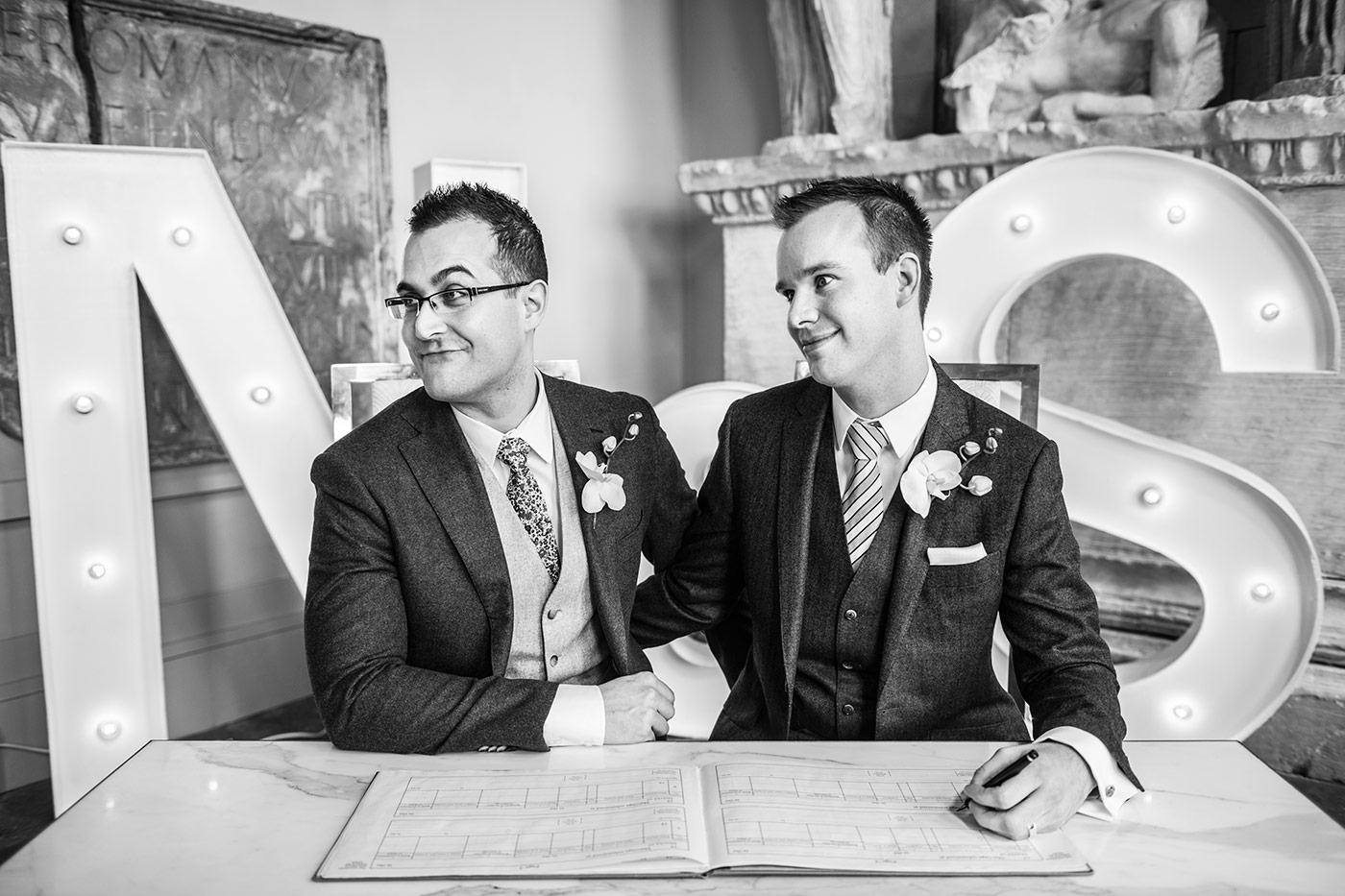 Aynhoe Park Gay Wedding Photography - Harry Richards Photography