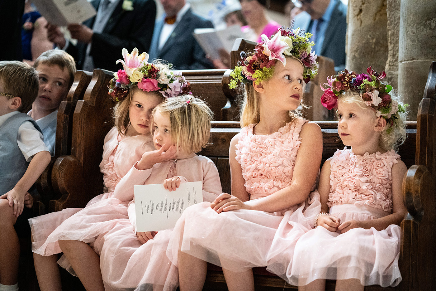 Flower Girls in Church