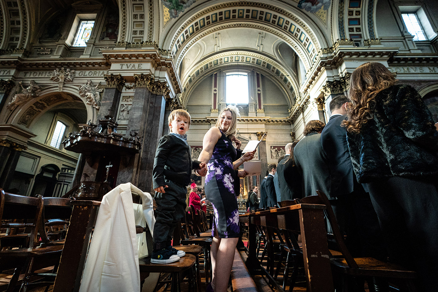 Brompton Oratory Wedding Reportage Photographer