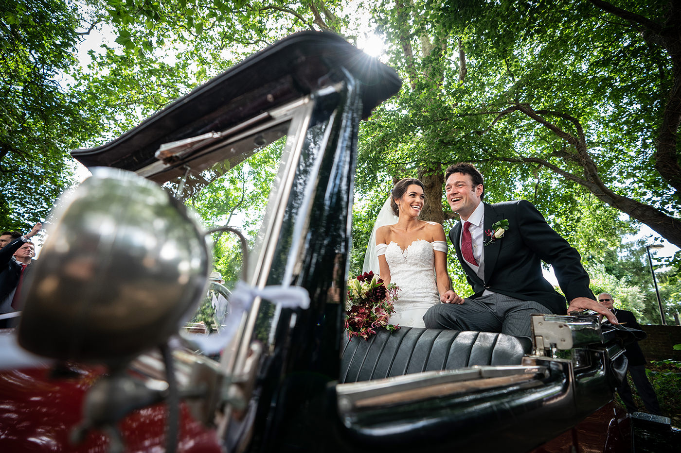 Wimborne Minster Wedding Car
