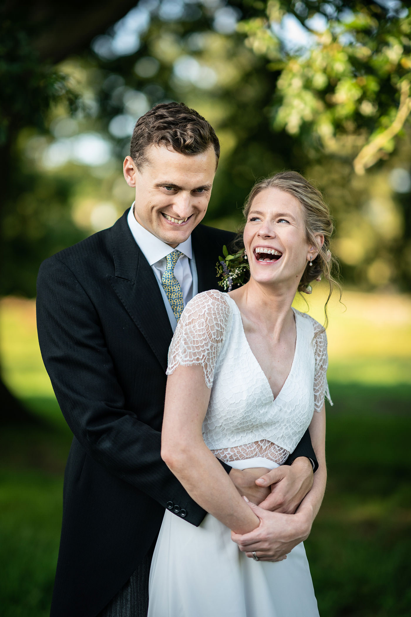 Laughing Couple Wedding Photos