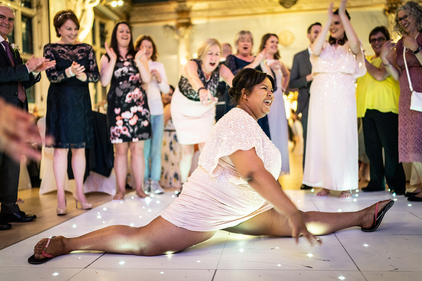Bridesmaid Wedding Dance Splits