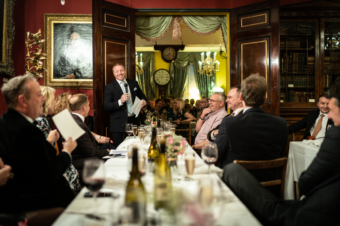 Wedding speeches upstairs at Brunswick House in London