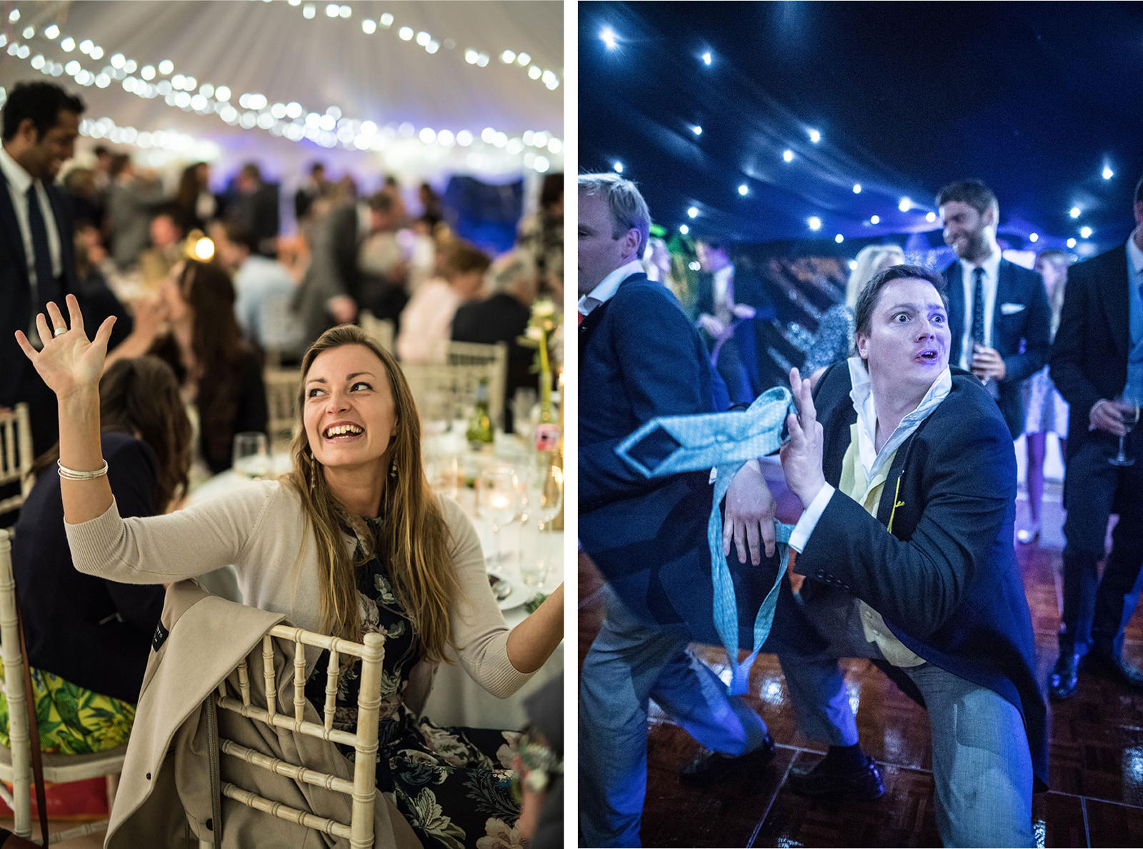 Dancing under a starry ceiling marquee