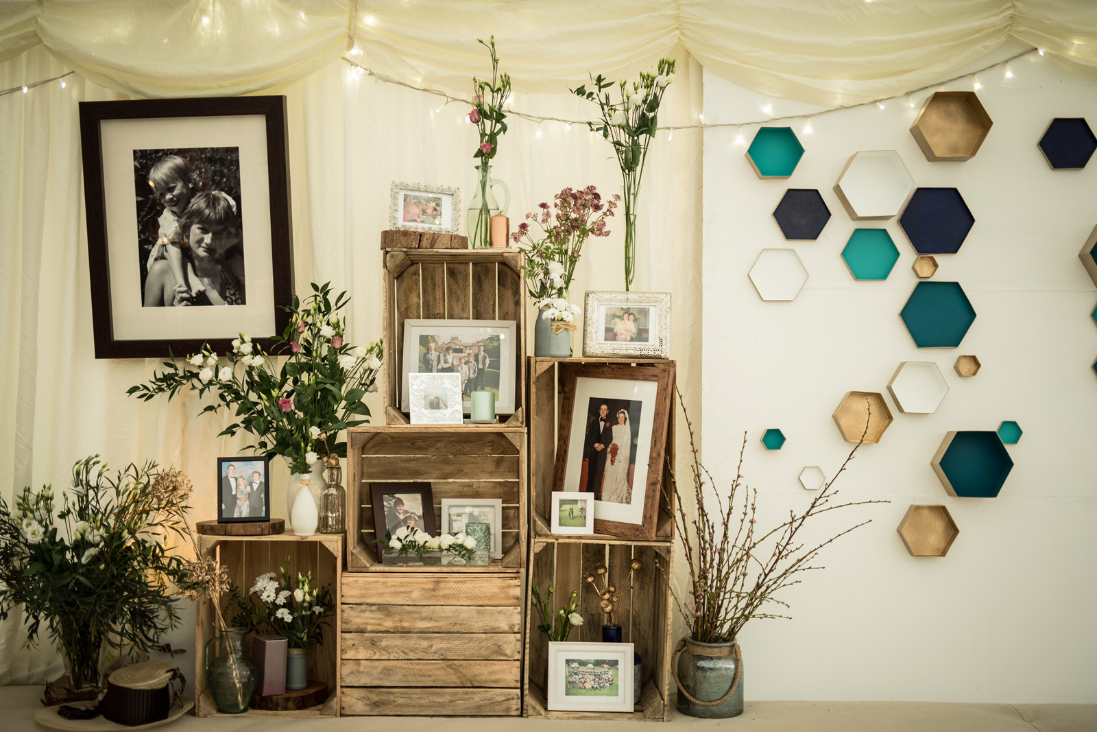 Pictures and Wedding decoration in Dorset Marquee