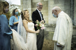 Bride meets Vicar
