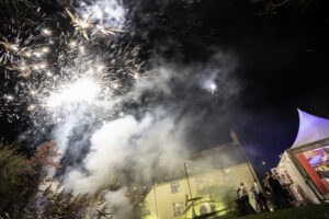Fireworks over a Marquee