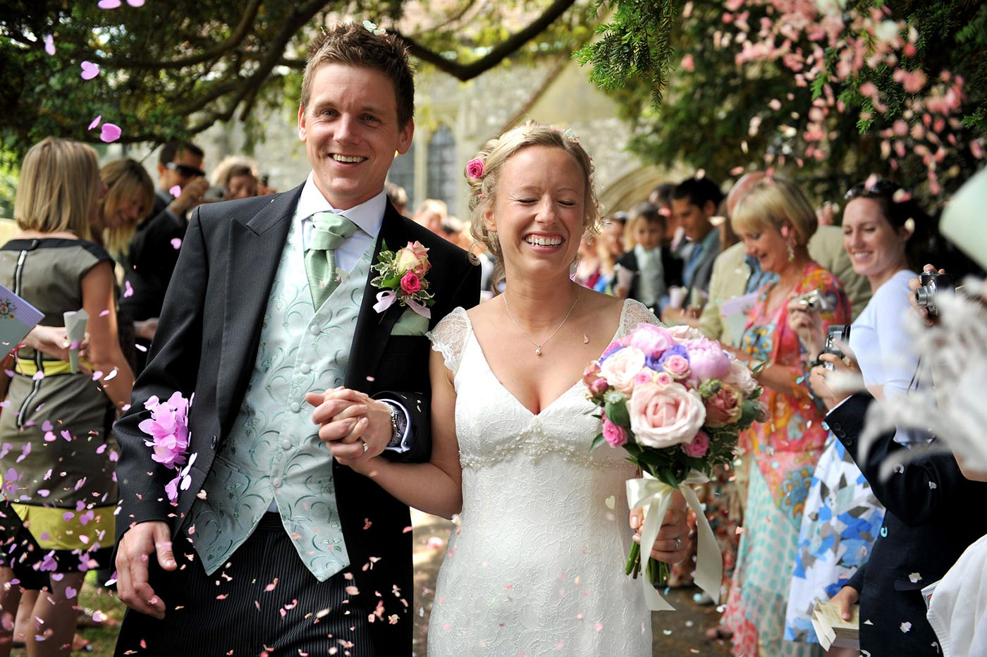 Wedding Confetti Photographs Stansted - Harry Richards Photography
